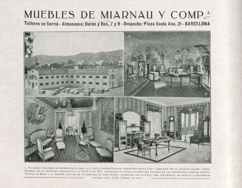 Imatge Inèdita d'una de les estances del pis Gache 1914