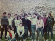 Outing to Vilafranca de Conflent (1984). The author is the second on the left, wearing the white jersey and grey scarf.